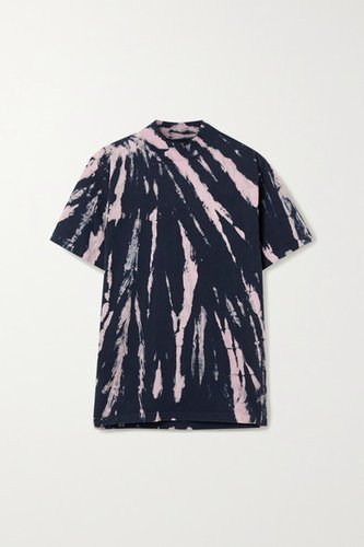 Tie-dyed Cotton-jersey T-shirt - Navy