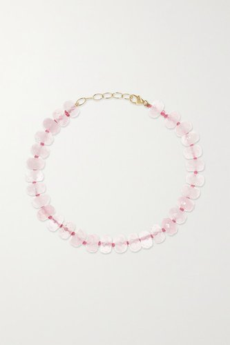 Gold Rose Quartz Bracelet - Pink