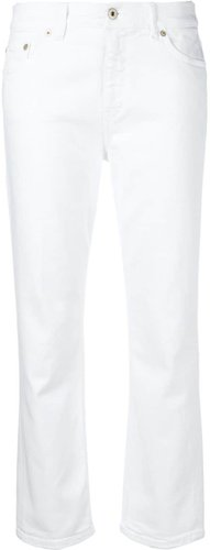 cropped jeans - White