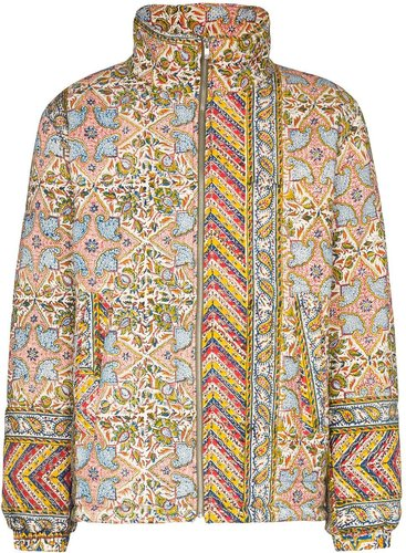 Iranian print quilted jacket - Multicolour
