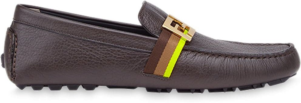 FF motif loafers - Brown