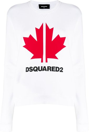 Maple Leaf logo sweatshirt - White