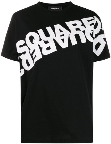 double logo-print T-shirt - Black