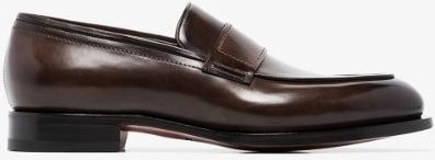brown classic leather loafers