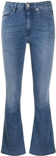 slim cropped trousers - Blue