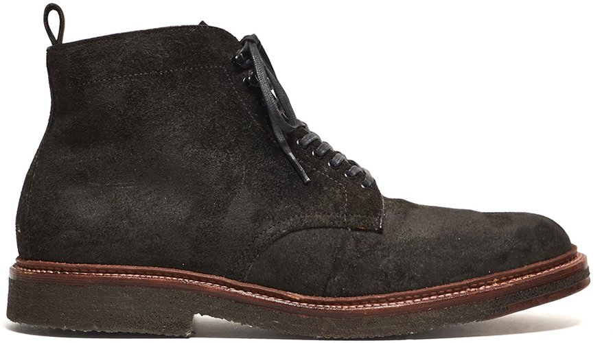x Todd Snyder Exclusive Plain Toe Boot in Reverse Earth Chamois