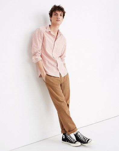 Relaxed Straight Chino Pants