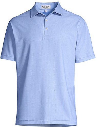 Crown Sport Regular-Fit Dotted Polo - Cottage Blue - Size Small