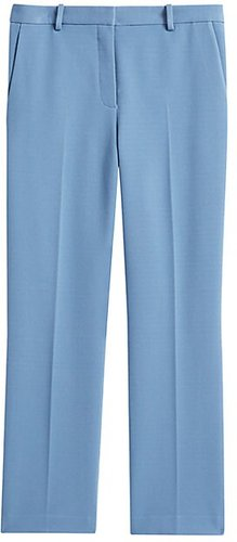 Knit Cropped Tailored Trousers - Chambray - Size 6