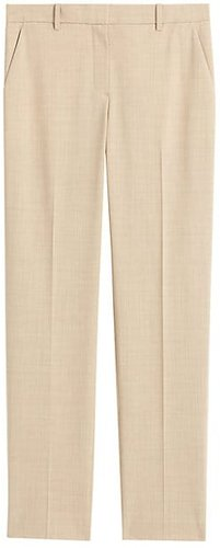Tailored Stretch Wool Trousers - Taupe Grey - Size 12