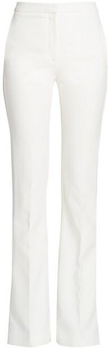 Crepe Flare Trousers - Ivory - Size 38 (2)