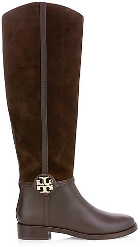 Miller Leather & Suede Tall Boots - Corvino - Size 9.5