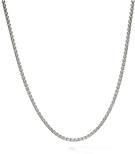 Baby Box Chain Necklace - Silver Gold - Size 18 INCH