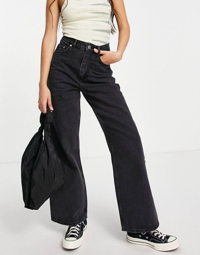 high rise 'relaxed' dad jeans in washed black