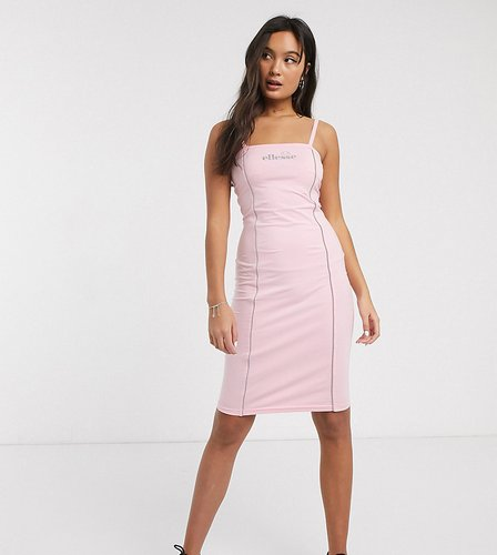 bodycon cami dress with reflective piping-Pink