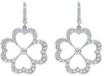 18K White Gold G Boutique Kelly Diamond Clover Earrings