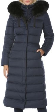 Faux Fur Trim Hooded Puffer Coat