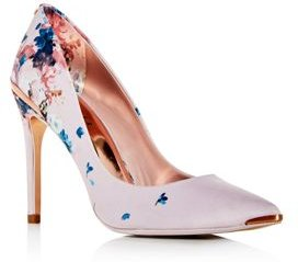 Izibelp Floral Pointed-Toe Pumps