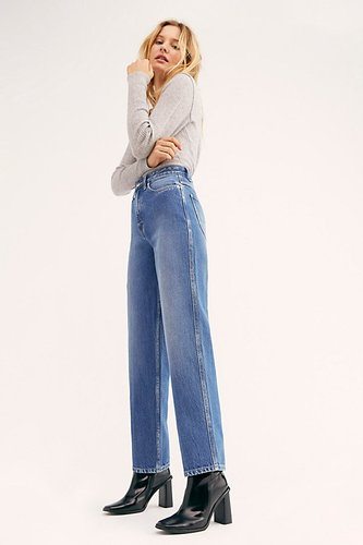 High-Rise Stove Pipe Jeans at Free People Denim
