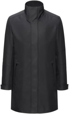 BOSS - Slim Fit Padded Coat In A Water Repellent Fabric - Black