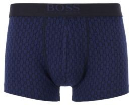 Stretch-cotton trunks in a graphic print