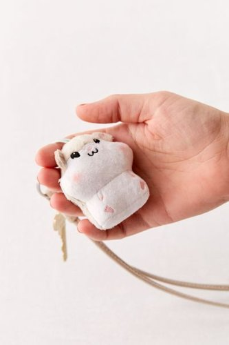 UO Exclusive Vibrating Plushie Keychain - Grey at Urban Outfitters