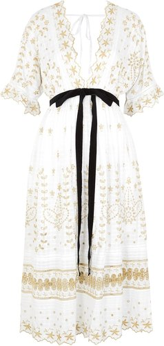 Augusta embroidered midi dress