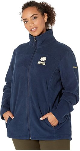 Plus Size Notre Dame Fighting Irish CLG Give and Gotm II Full Zip Fleece Jacket (Collegiate Navy) Women's Fleece