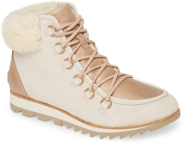 Harlow Luxe Genuine Shearling Bootie