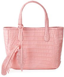Erica Mini Crocodile Leaf Tote Bag