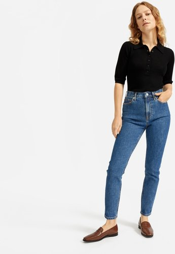 High-Rise Skinny Jean by Everlane in Medium Blue, Size 30