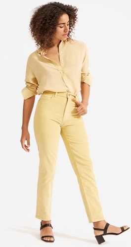 Cheeky Straight Corduroy Pant by Everlane in Hemp, Size 29