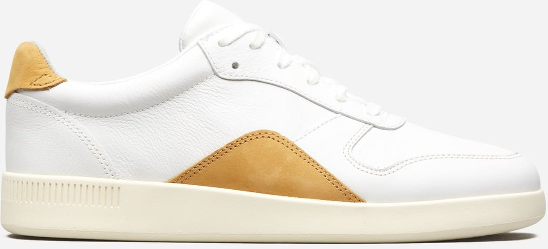 Court Sneaker by Everlane in White / Mustard, Size W9.5M7.5