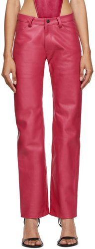 Pink Leather Suit Trousers