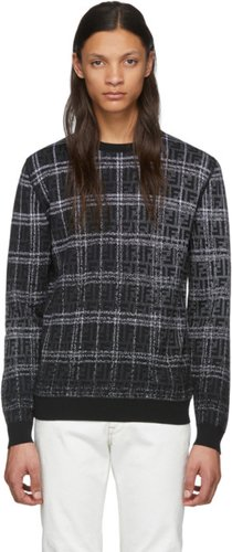 Black and Grey Wool Forever Fendi Sweater