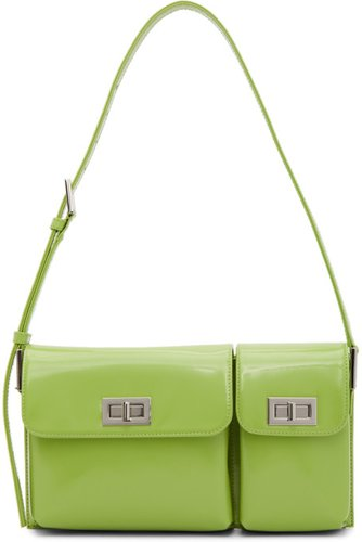 Green Patent Billy Bag