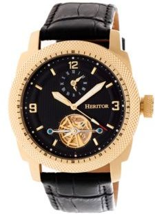 Automatic Helmsley Gold & Black Leather Watches 45mm