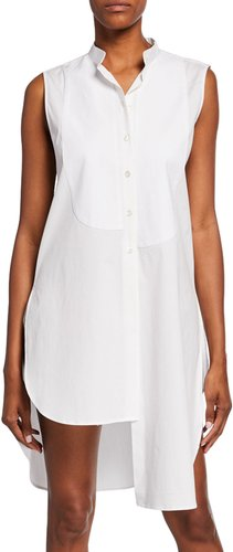 Asymmetric Bib Sleeveless Shirt