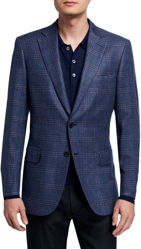 Plaid Two-Button Jacket