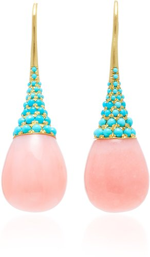 One-Of-A-Kind 18K Gold, Opal And Turquoise Earrings