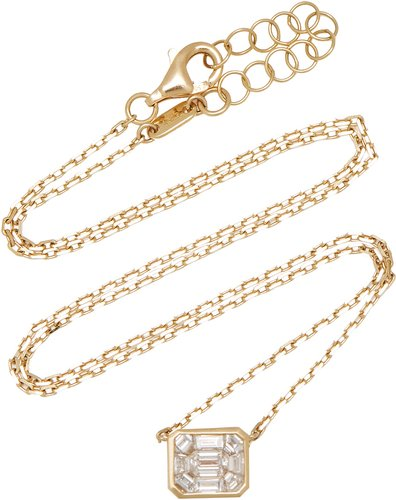 Illusion 18K Gold Diamond Necklace