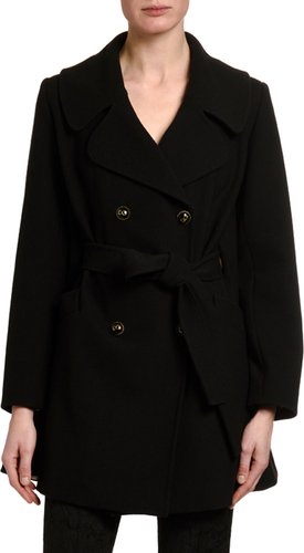 Belted Double-Face Wool Coat