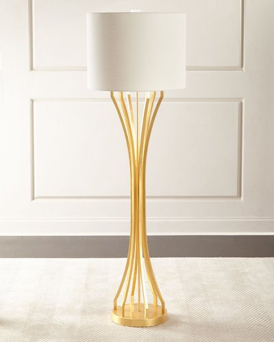 Gold Leaf Hourglass Floor Lamp
