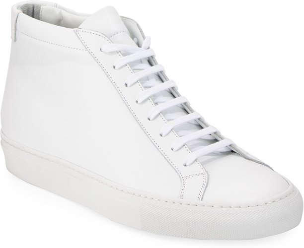 Original Achilles Men's Leather Mid-Top Sneakers, White