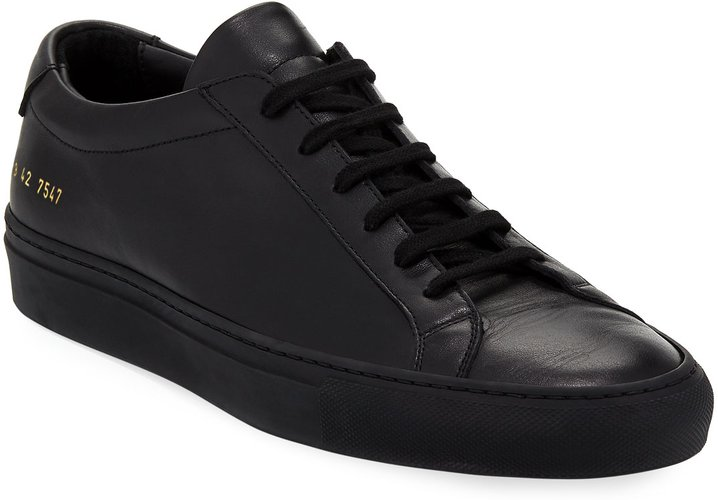 Achilles Low-Top Sneakers, Black