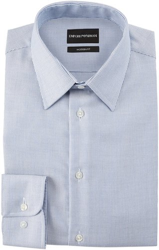 Modern Fit Micro-Stripe Cotton-Blend Dress Shirt