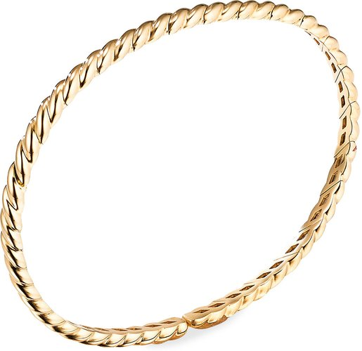 3.5mm Paveflex 18K Gold Cable Bracelet, Size L