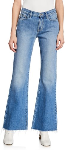 The Wray Mid-Rise Wide-Leg Jeans - Raw Hem