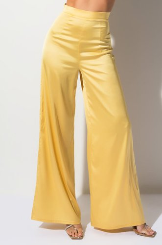 Golden Hour High Waisted Satin Pants